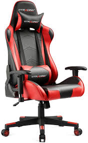 GTRACING Gaming Chair Racing Video Game Chair Ergonomic Backrest And Seat  Height Adjustment Computer Chair Recliner Swivel Rocker With Headrest And  ...