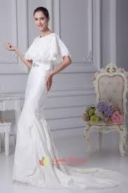 white satin mermaid wedding dress simple elegant satin wedding