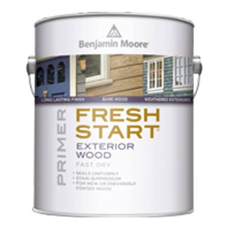 Benjamin Moore Fresh Start Exterior Alkyd Primer, White - 32 fl oz can
