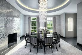 Art Deco Dining Room Good Looking Gold Chandelier Light With Concrete Tile Amp Interior Wallpaper In Ct Digs Design