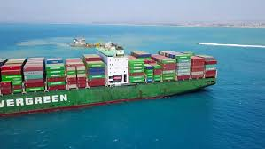 decks july 2017 haifa israel july 7 2017 evergreen mega container ship at sea