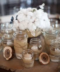 Decorations Burlap Mason Jars Jar Centerpieces Candles