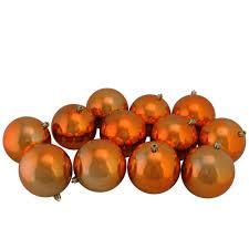 Northlight Shiny Orange Shatterproof Christmas Ball Ornaments 12 Count