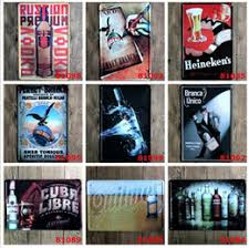 Lastest Fashion 2030cm Classic Beer Wine Poster Tin Sign Coffee Shop Bar Restaurant Wall Art Decoration Metal Paintings