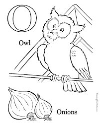 Free Alphabet coloring sheets Letter O For kids 3