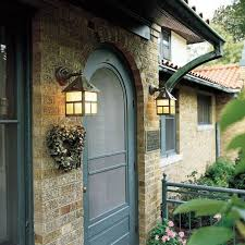 residential side entry exterior wall lighting in historic