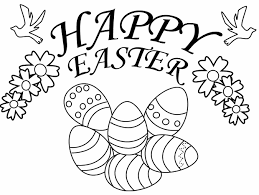 Happy Easter Coloring Page Book