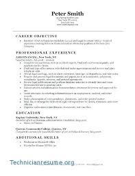 Sample Resume Legal Assistant Entry Level