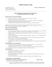 Resume For Project Manager Position Examples Ideas Management