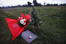A Christmas Tree Sits On Grave Marker At The Riverside National Cemetery In Last Year Trees And Other Decorations Will Be Allowed For Limited