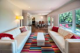 Dazzling Mohawk Area Rugs In Living Room Modern With Rug On Carpeting Next To Brown Sofa Alongside Two Sofas And Dining Table