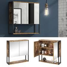 vicco spiegelschrank fyrk vintage badschrank badmöbel badspiegel mit ablagen