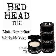 buy tigi bed head b for men matte separation workable wax 2x75g in