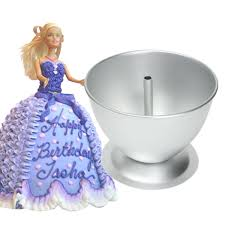 3D Princess Dress Doll Cake Mold Fondant Baking Pan Decorate Making