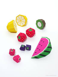 Papercraft Food Templates Template C Definition Play Fruit