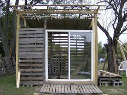 DIY Storage Shed From Pallets
