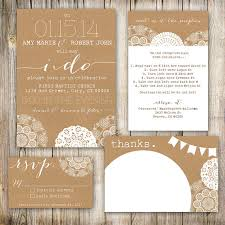 Wedding Invitation Set Printable Shabby Chic Rustic Country By TheMombot