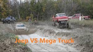 100 Mega Truck Racing Big VS JEEP Humman OffRoad Offroad Jeep S