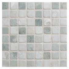 marble mosaic tile 5 8 square ming green tumbled