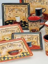 Coffee Cafe Dessert Plate Sold Seperately By Certified International With Art LoriLynn Simms