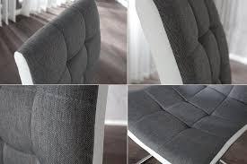 esszimmerstuhl soho ii grau weiß gesteppt dunord design