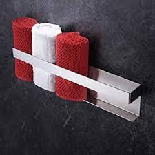 yigii gästehandtuchhalter handtuchhalter ohne bohren handtuchregal edelstahl selbstklebend gästetuchhalter 40cm für badezimmer