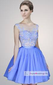 2015 new scoop collar tulle short homecoming dresses lace