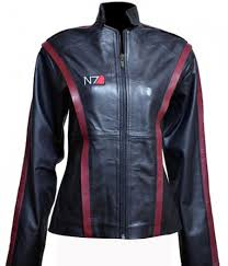 n7 mass effect 3 women leather jacket leather creative