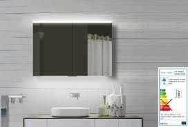 led spiegelschrank breite 100 cm 2 türig aus alu mass