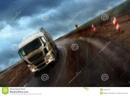 Motion Of Wagon In Rainy Weather,driver, Truck Stock Photo - Image ...