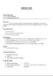 Format Of Resume For Teacher Teaching Job