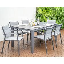 home islands gartenmöbel set mit stuhl luis und tisch dayann 7 teilig