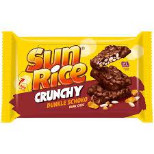 sun rice crunchy dunkle schoko happen 200g