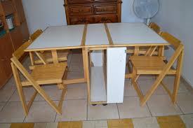 table pliante avec 4 chaises occasion en clasf maison jardin