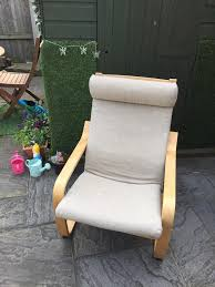 Ikea Poang Chair Cover by Ikea Poang Chair With Padded Oatmeal Linen Cover In Horsforth