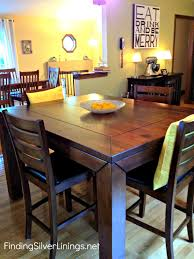 Square Table Round Dining Room Tables High Top Set Small
