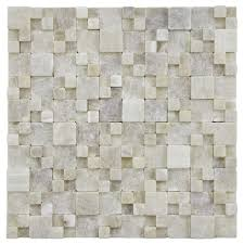 Catalina Canyon 12x12 Tile by Grizelda Random Sized Natural Stone Unpolished Mosaic In Yellow