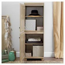 south shore narrow storage cabinet hopedale 2 door narrow storage cabinet rustic oak south