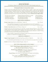 Resume High School Teacher Preschool Sample Cover Letter Job Description Images Examples