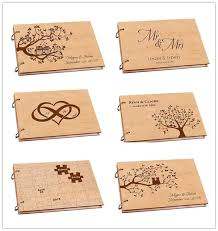 Personalized Wedding Photo AlbumRustic Wooden GuestbookDiy A4 Scrapbook Album For Signature