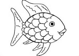 Rainbow Fish Printables Colouring Pages
