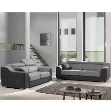 canap fixe tissu ensemble canapé 3 2 places gris en tissu sofamobili