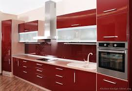 Nice Red Kitchen Design On Interior Decor Home Ideas And