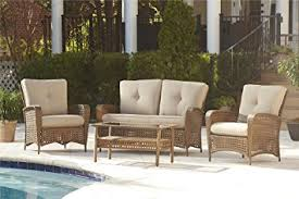 Amazon Prime Patio Chair Cushions by Amazon Com Cosco Outdoor 4 Piece Lakewood Ranch Steel Woven