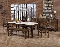 Simply Dining Quartz Top Set W Roll Chairs Dark Maple