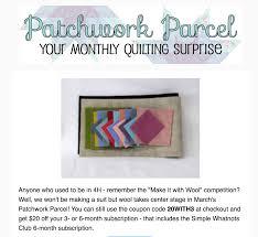 Patchwork Parcel March 2017 Spoiler + Coupon - Hello Subscription