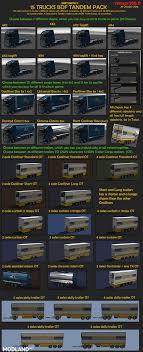 100 Truck Tandems BDF Tandem Pack V1000 132 Mod For ETS 2