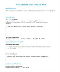 Modern Looking Single Page Blank CV Design Template