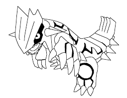 Legendary Pokemon Coloring Pages Groudon