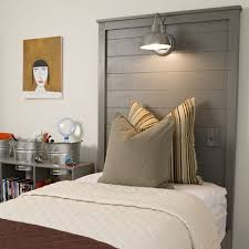 bedroom lovely reading light for bed with white curtain and wall